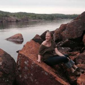 Anni at Black Sand Beach, Silver Bay, MN